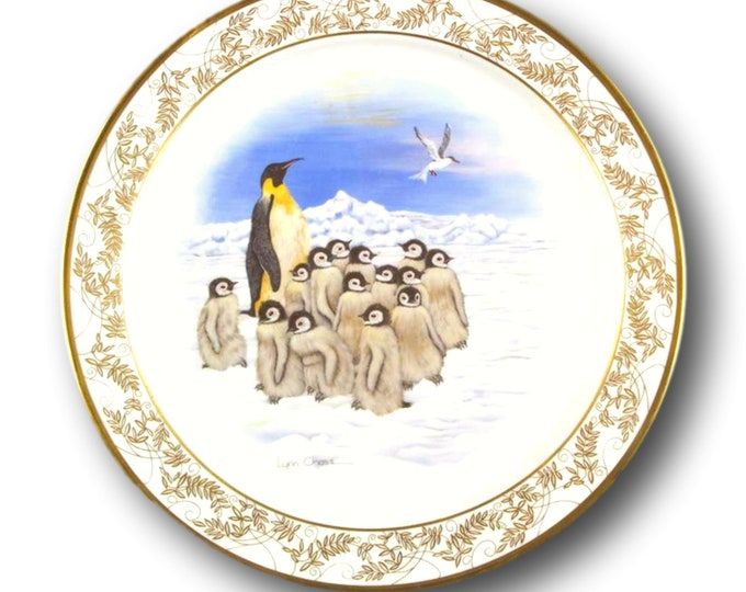 Penguin Gift | Limited Edition Plate | Nature's Nursery | Emperor Penguins | Boxed Gift Plate | Lenox USA | Gift Under 50