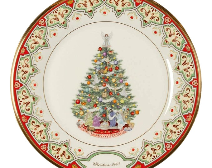 Spain Lenox Wall Plate | Christmas Tree Around the World Plate | Annual Christmas Tree Plate | Collector Plate