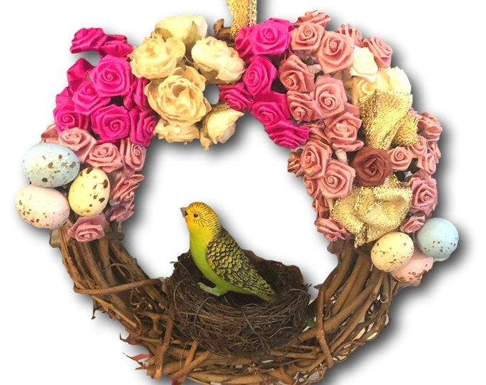 Gift Under 30 | Grapevine Wreath | Spring Roses