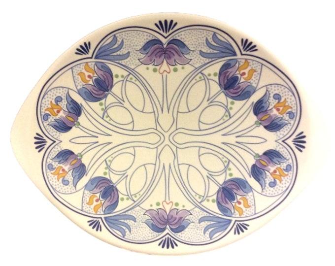 Amata Royal Goedenwaagen Blue Delft Holland America Oval Plate