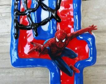 Spiderman Birthday Candle, superhero birthday candle
