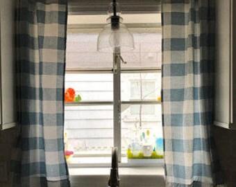 Blue Buffalo Curtains,Kitchen Curtains,Bedroom Curtains,livingroom Curtains
