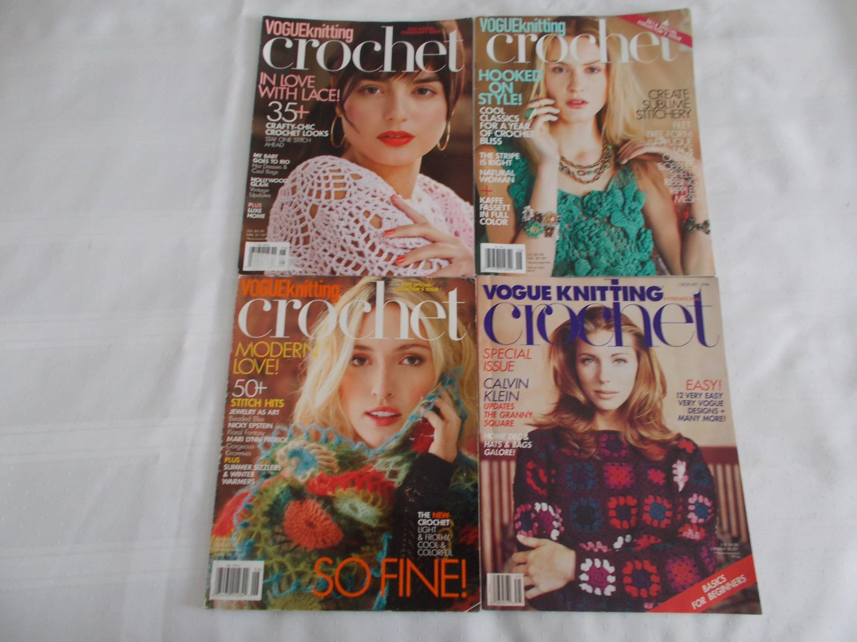 Rare - Vogue Vogue Vogue tricot au Crochet magazines - Collectors Edition - ensemble de 4 7f0fed