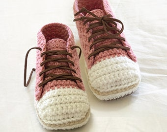 Sneakers Crochet Patterns Woman Sneaker Pattern Design Lady Sneakers Home Female Slippers Adult Crochet Shoes Women sizes 5 - 10 Female