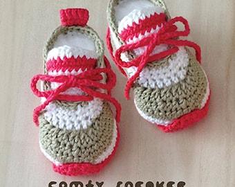 Crochet Baby Sneaker Etsy