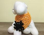 Halloween puppy costume CROCHET PATTERNS, digital download. Crochet dog bandana, dog bandana pattern with 3d spider on a spider web