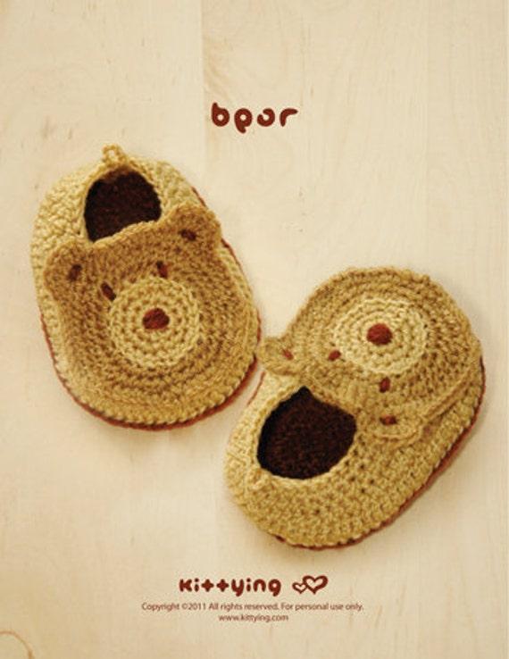 PATRÓN DE CROCHET Baby Bear Botines Foto Gráfico y patrón | Etsy
