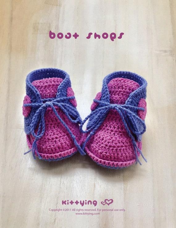 Boat Shoes Crochet Pattern Crochet Baby Sneakers Patterns Etsy