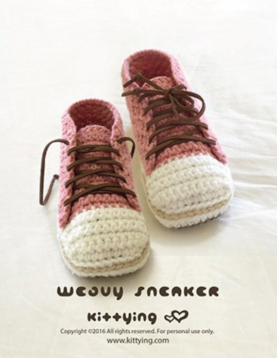Sneakers Crochet Patterns Woman Sneaker Pattern Design Lady Sneakers