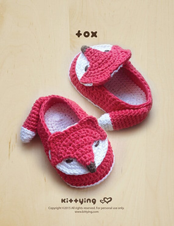 Crochet Patterns Fox Baby Booties Fox Preemie Socks Fox Etsy