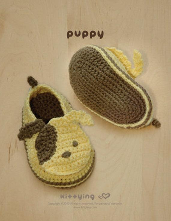 Patrón ganchillo perrito zapatitos de bebé Cachorros Preemie | Etsy