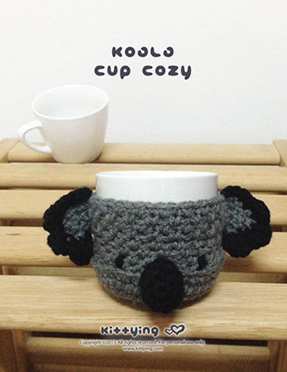 Crochet Pattern Koala Bear Coffee Warmer Koala Bear Tea Mug Etsy