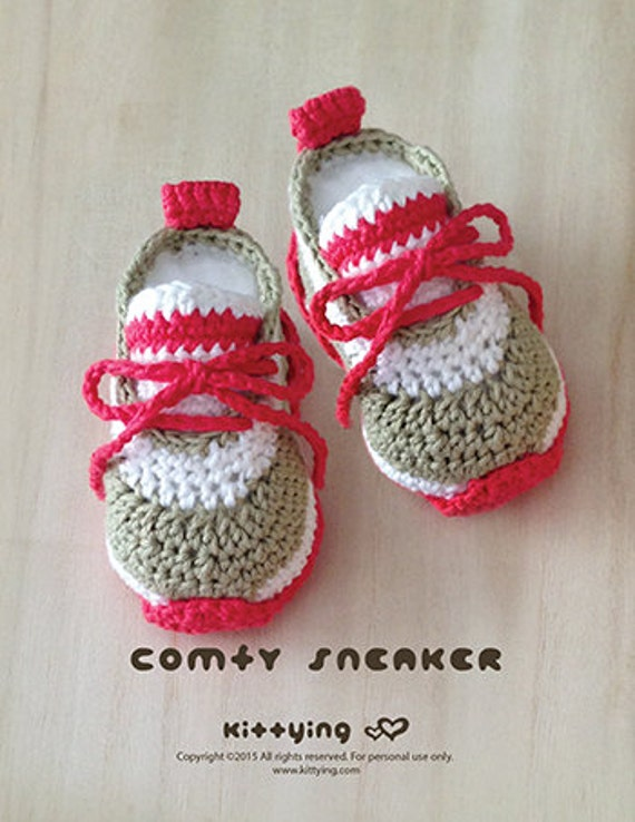 Häkelarbeit-Baby-Muster Comfy Baby-Turnschuhe | Etsy