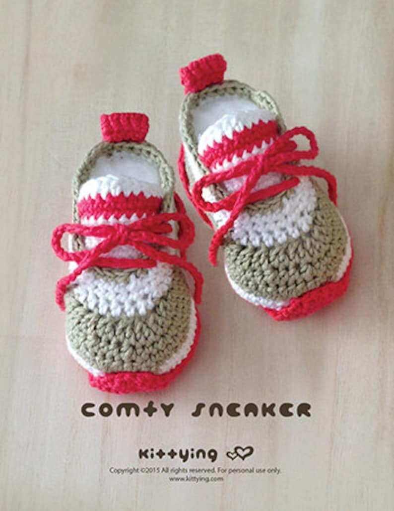 3faa46c8bb Crochet Baby Pattern Comfy Baby Sneakers Crochet Baby Shoes