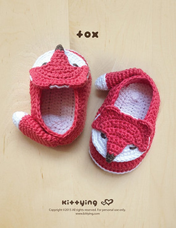Crochet Pattern Fox Baby Booties Fox Preemie Socks Fox Etsy
