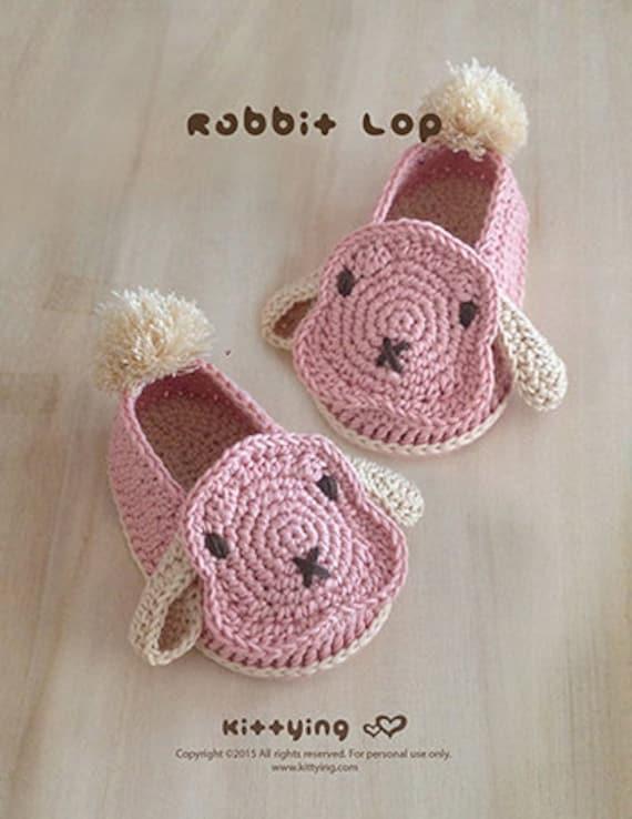 Zapatos conejo bebé ganchillo patrón conejo bebé botines | Etsy