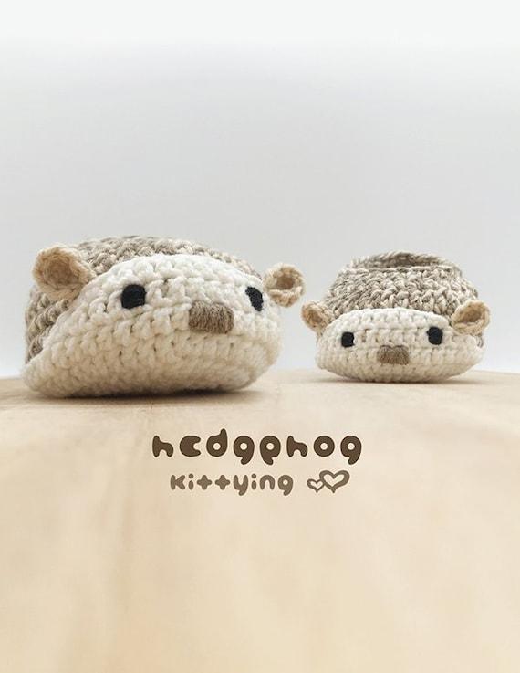 Hedgehog Booties CROCHET PATTERN Hedgehog Crochet Baby | Etsy