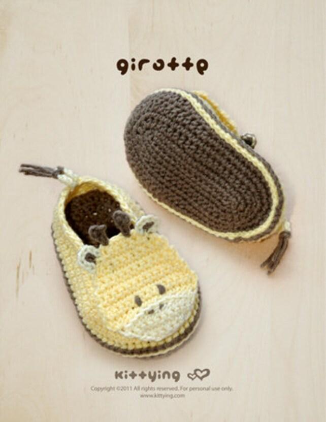 Modelo del ganchillo de los botines zapatos de bebé de la   Etsy