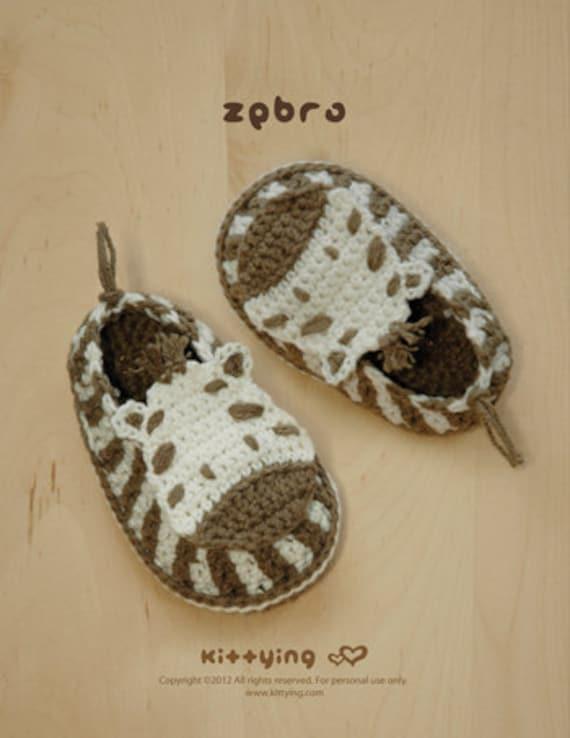 Häkelarbeit-Muster Zebra Baby Booties Zebra Preemie Socks | Etsy