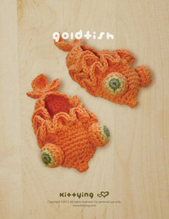 Lovely Hats Infant Baby Kid Fancy Costume Knitted Crochet Goldfish Fish Hat