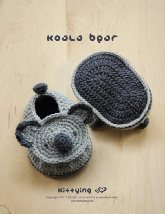 Patrón Crochet Koala bebé Botines Calcetines del bebé Koala | Etsy