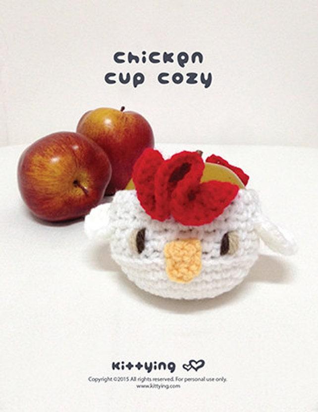 Patrón ganchillo Pollo Fruta acogedor gallo protector de Apple | Etsy
