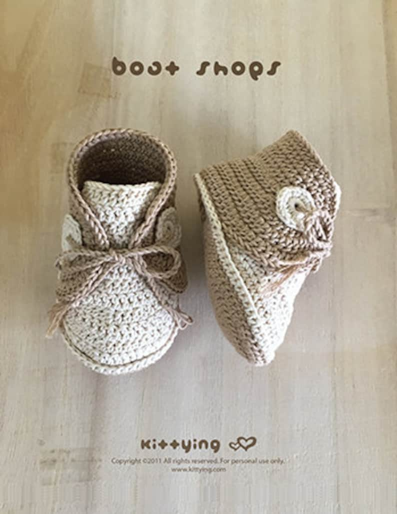 d250b4396 Baby CROCHET PATTERNS Crochet Baby Sneakers Boat Shoes