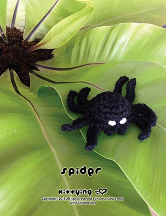 Modelo Modelo del ganchillo araña de Halloween Amigurumi Araña   Etsy