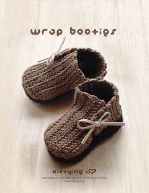 Patrón Crochet abrigo del bebé Botines Botas recién nacido | Etsy