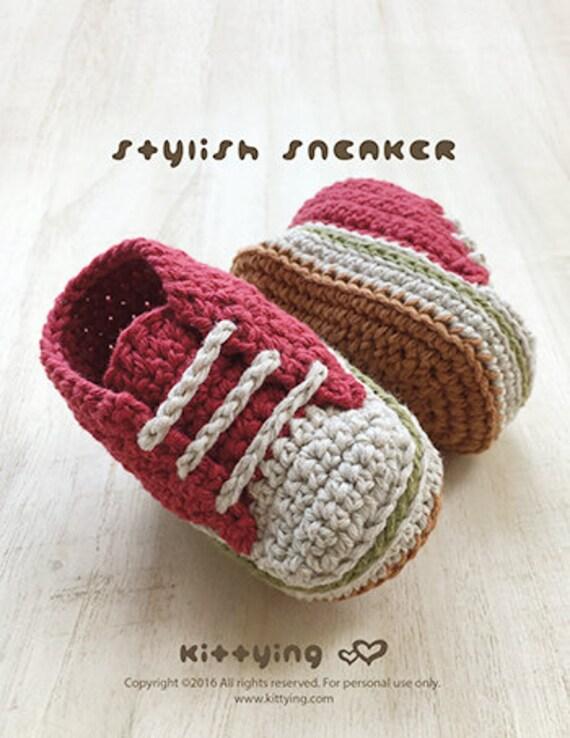Patrones de ganchillo bebé elegante del bebé de las zapatillas | Etsy