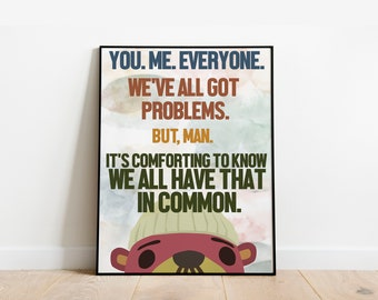 Pascal's Words of Wisdom - Animal Crossing - Classroom Poster Print