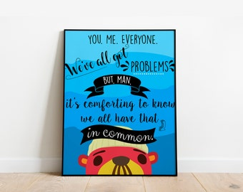 FREE SHIPPING - Animal Crossing New Horizons - Pascal's Words of Wisdom - Various Quotes - Art Print