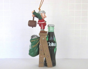 coca cola bottling works collection christmas ornament tops on refreshment 1992 collectible ornament original box advertising