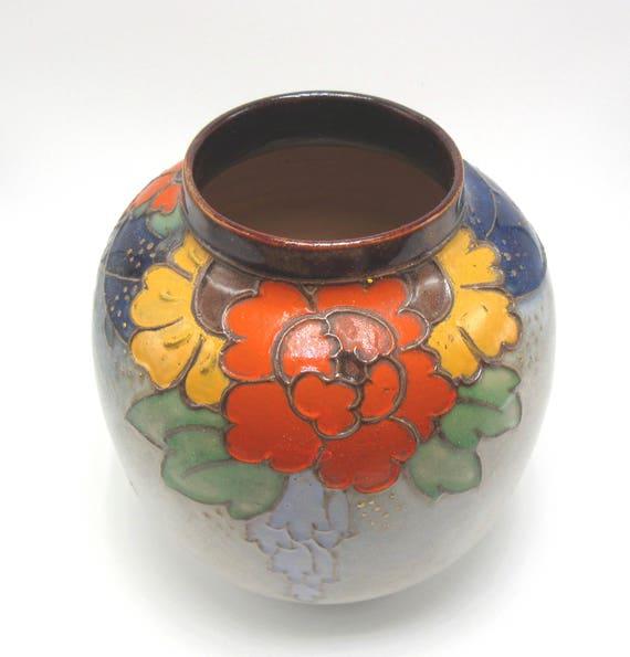 Royal Doulton Lambeth 5 34 Stoneware Vase Glazed Etsy