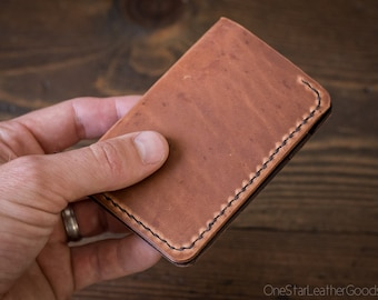 6 Pocket Vertical Leather Wallet, Horween Dublin - chestnut / brown