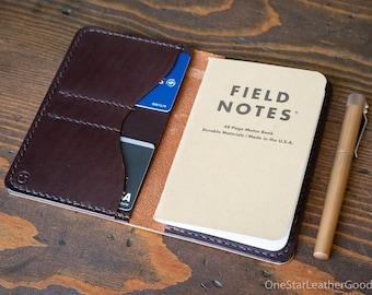"Field Notes wallet, ""Park Sloper No Pen,"" notebook cover - Horween chestnut latigo / brown"