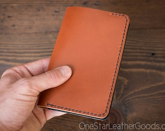 """Notebook cover, 3.5 x 5.5"""", Field Notes cover - chestnut / black"""