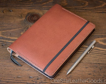 Leuchtturm 1917 Medium (A5) Hardcover Notebook cover - Horween crosshatch textured leather