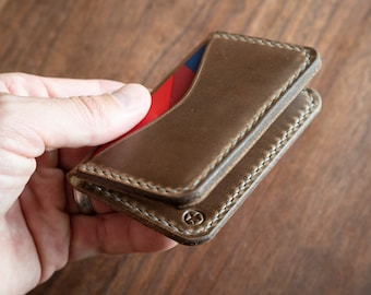 3 Pocket Card Wallet - Horween Chromexcel leather - natural
