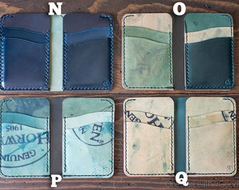 Short Run Horween Shell Cordovan 6 Pocket Vertical wallets N, O, P, Q