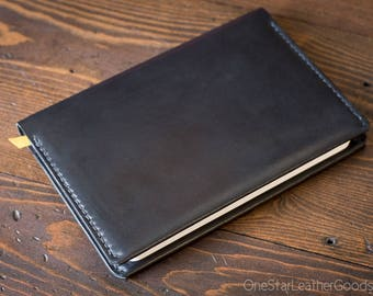 Baron Fig Confidant Flagship (A5) notebook and cover (fountain pen friendly paper) - black bridle leather