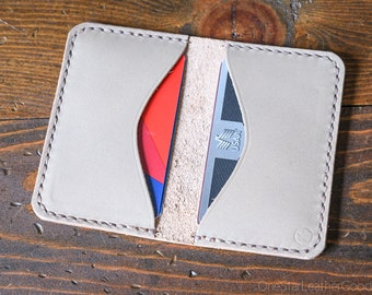 Two Pocket Card Wallet - gray