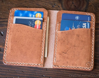 6 Pocket Vertical wallet, Horween Dublin leather - natural