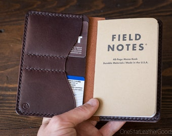 "Field Notes wallet, ""Park Sloper No Pen,"" notebook cover - chestnut / brown bridle"