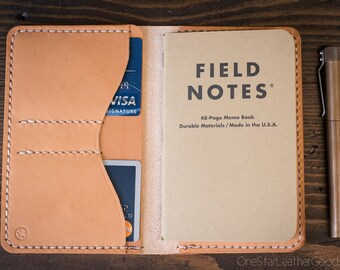"The ""Park Sloper No Pen,"" Field Notes wallet - natural veg"