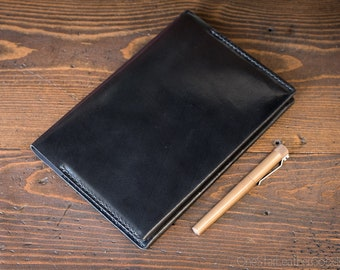 Baron Fig Confidant Flagship (A5) notebook and cover (fountain pen friendly paper) - black harness leather