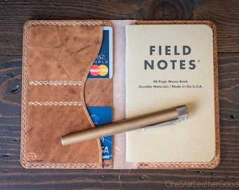 "Field Notes wallet, ""Park Sloper No Pen,"" notebook cover - natural color Horween Dublin leather"