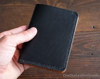5 Pocket Slim wallet, Horween leather - black & tan