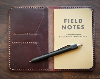 """Notebook wallet """"Park Sloper No Pen,"""" fits Field Notes and other notebooks - burgundy #8 Chromexcel"""