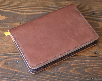 Baron Fig Confidant Flagship (A5) leather cover + notebook - Horween textured brown / dark brown